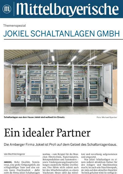 Bericht in der Mittelbayerischen Zeitung: JOKIEL Schaltanlagen GmbH: Ein idealer Partner